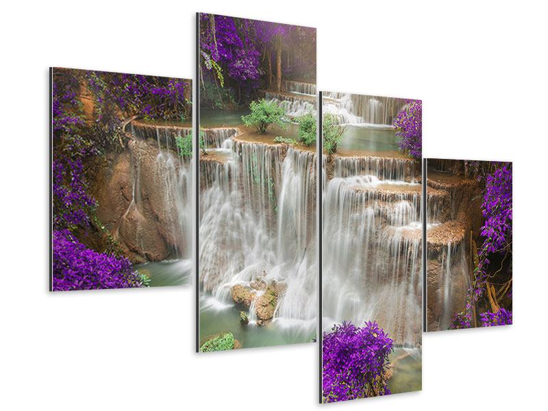 Aluminiumbild 4-teilig modern Garten Eden