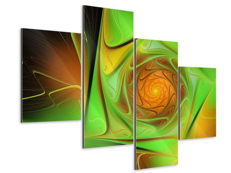 Aluminiumbild 4-teilig modern Abstraktionen