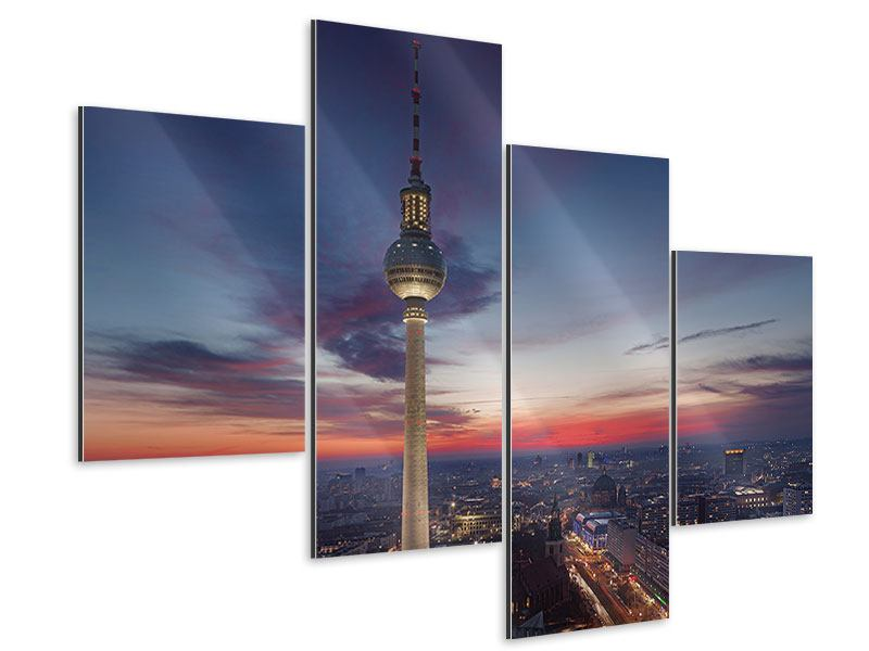 Aluminiumbild 4-teilig modern Berlin