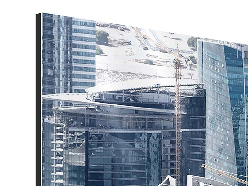 Aluminiumbild 4-teilig modern Die Wolkenkratzer von Dubai