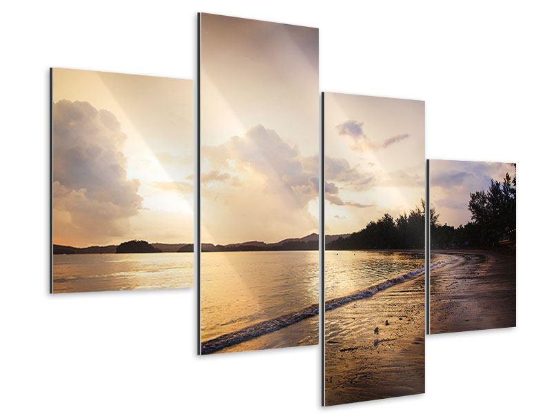 Aluminiumbild 4-teilig modern Das Ufer