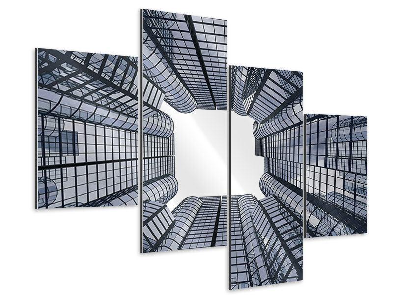 Aluminiumbild 4-teilig modern Besondere Perspektive