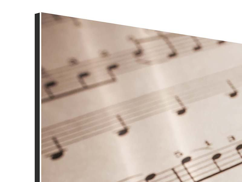 Aluminiumbild 4-teilig modern Das Notenblatt