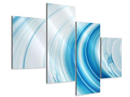Aluminiumbild 4-teilig modern Abstraktes Glas
