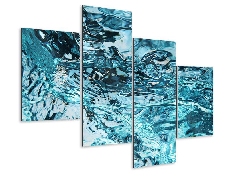 Aluminiumbild 4-teilig modern Schönheit Wasser