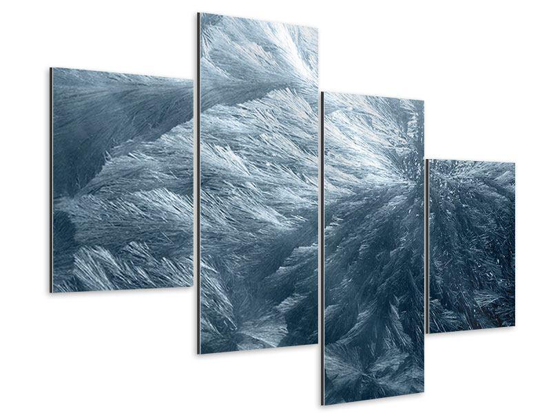 Aluminiumbild 4-teilig modern Eis