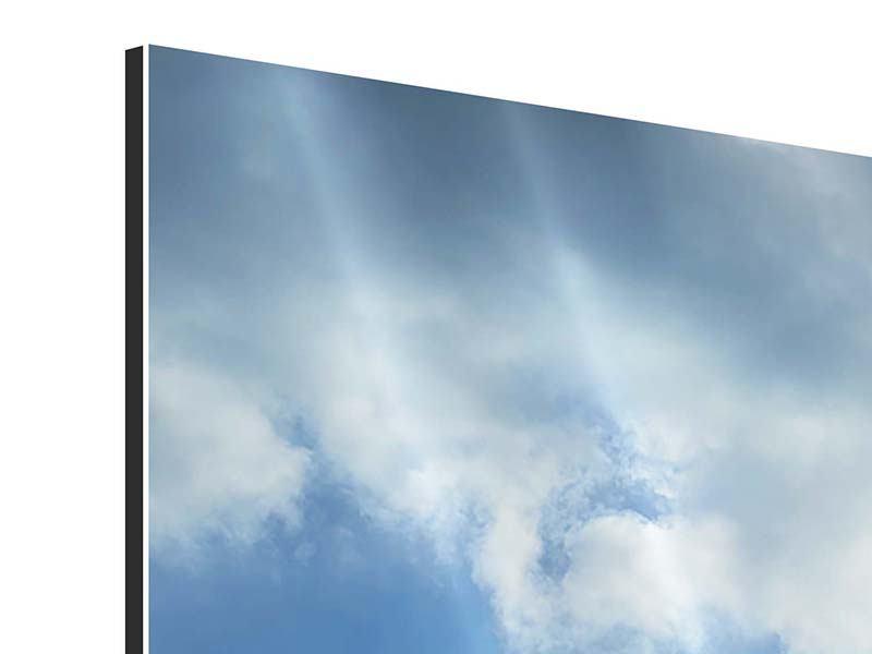 Aluminiumbild 4-teilig modern Himmelshoffnung
