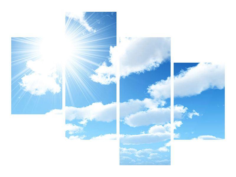 Aluminiumbild 4-teilig modern Am Himmel