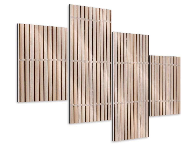 Aluminiumbild 4-teilig modern Lucky Bamboo