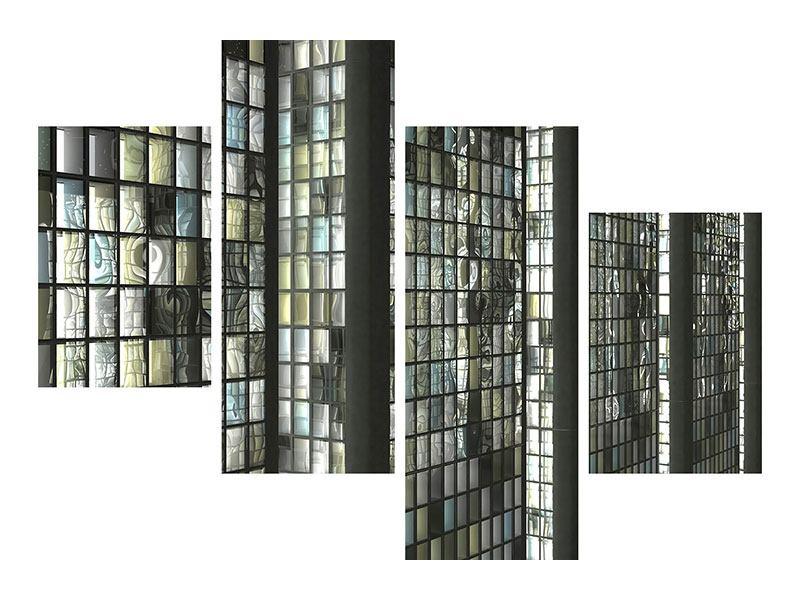 Aluminiumbild 4-teilig modern Windows