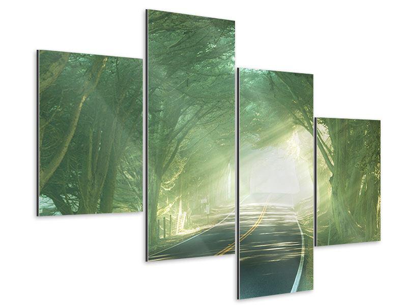 Aluminiumbild 4-teilig modern Die Allee