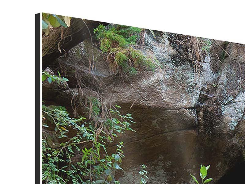 Aluminiumbild 4-teilig modern Die blaue Lagune