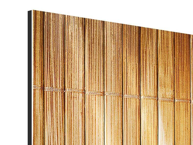 Aluminiumbild 4-teilig modern Bambusrohre