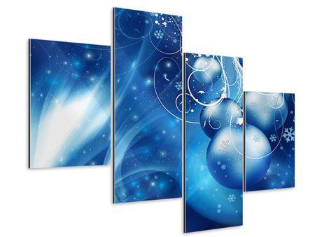 Aluminiumbild 4-teilig modern Shingle Bells