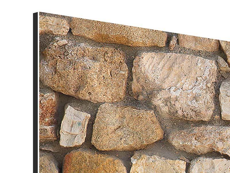 Aluminiumbild 4-teilig modern Alte Ziegel