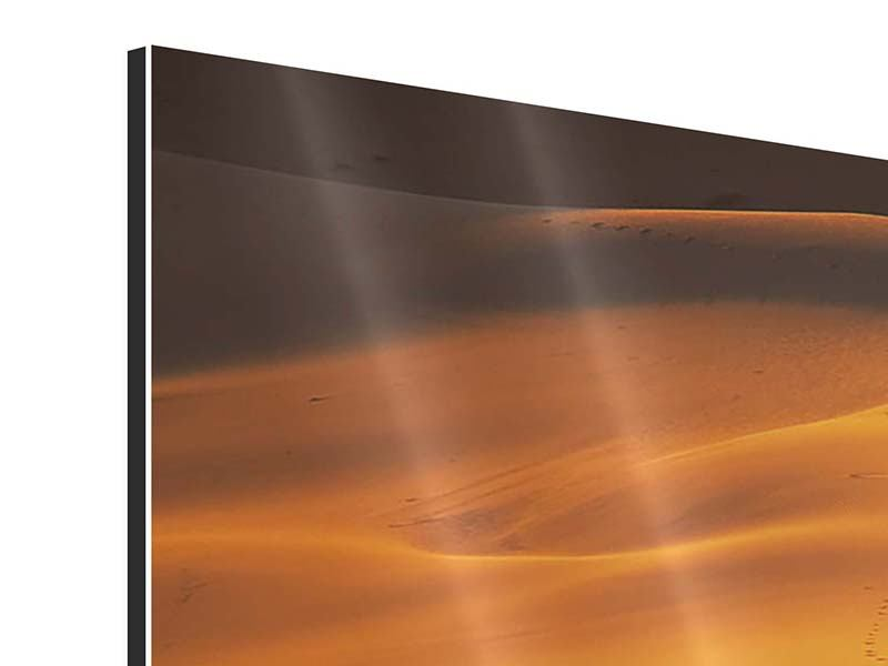 Aluminiumbild 4-teilig modern Wüstensand