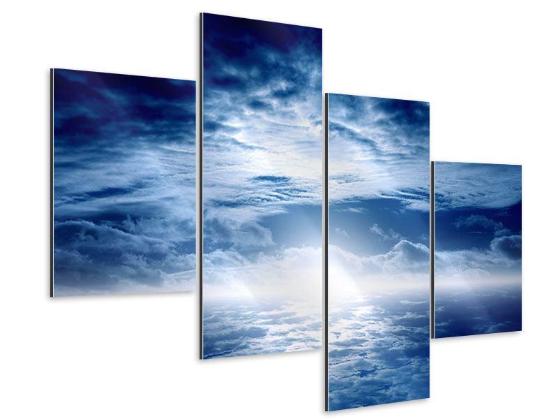 Aluminiumbild 4-teilig modern Mystischer Himmel