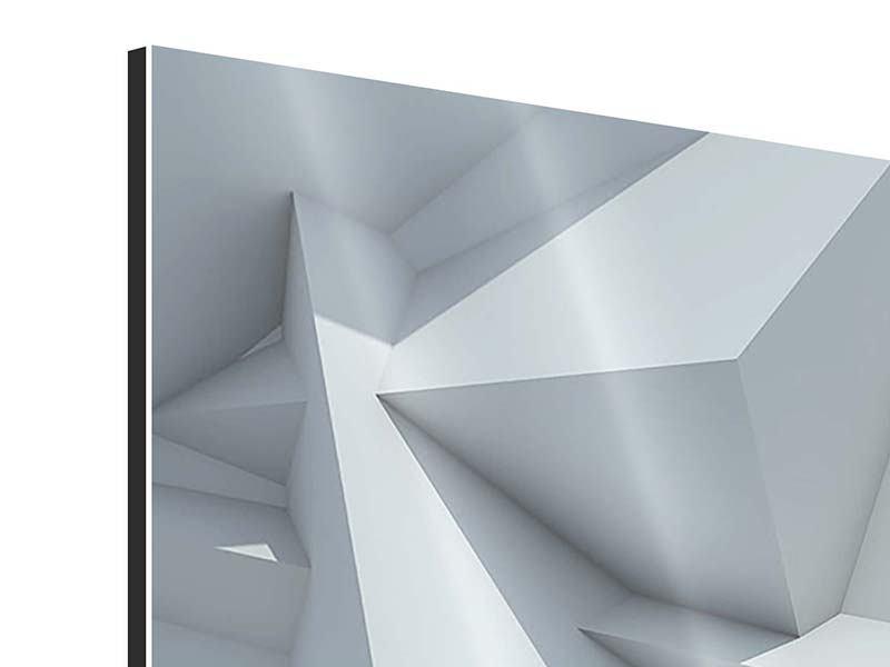 Aluminiumbild 4-teilig modern 3D-Kristallo