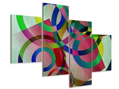 Aluminiumbild 4-teilig modern Wandkunst