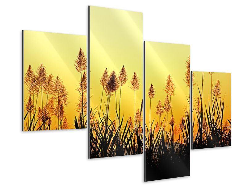 Aluminiumbild 4-teilig modern Die Blumen des Feldes