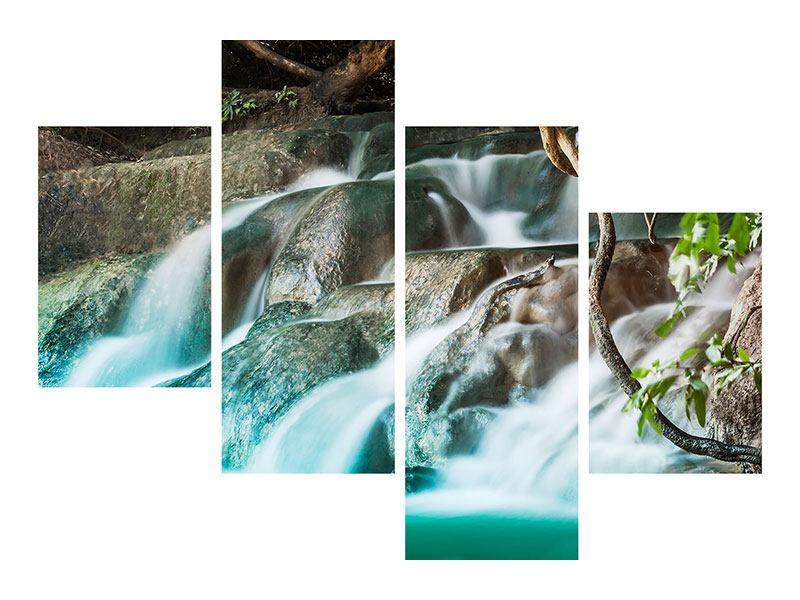 Aluminiumbild 4-teilig modern Am Fluss des Lebens