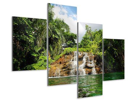 Aluminiumbild 4-teilig modern Lagune