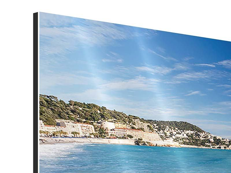 Aluminiumbild 4-teilig modern Cote D`Azur