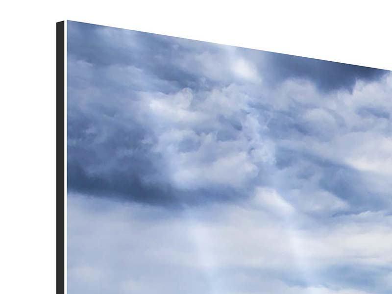 Aluminiumbild 4-teilig modern Inselfeeling