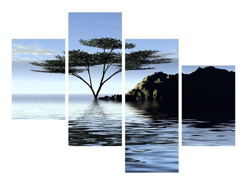 Aluminiumbild 4-teilig modern Naturfaszination