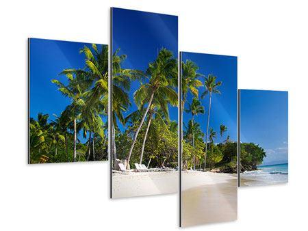 Aluminiumbild 4-teilig modern Aloha