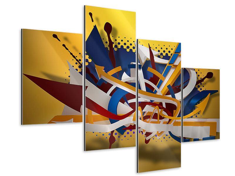 Aluminiumbild 4-teilig modern Graffiti Art