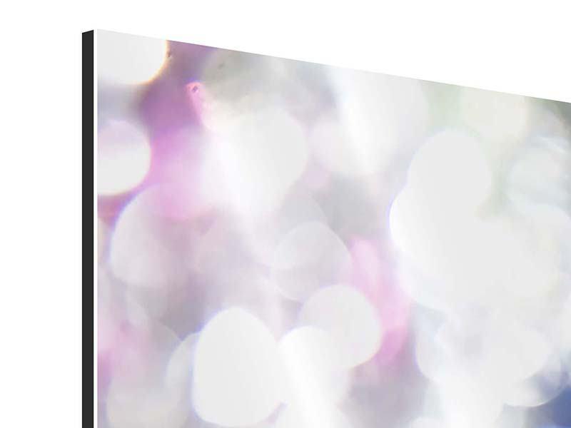 Aluminiumbild 4-teilig modern Abstraktes Licht