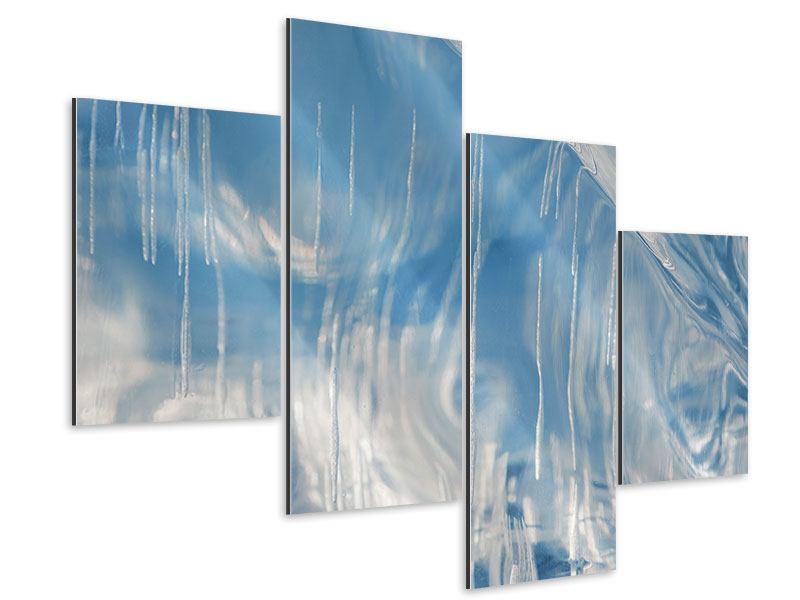 Aluminiumbild 4-teilig modern Das Eis des Baikalsees