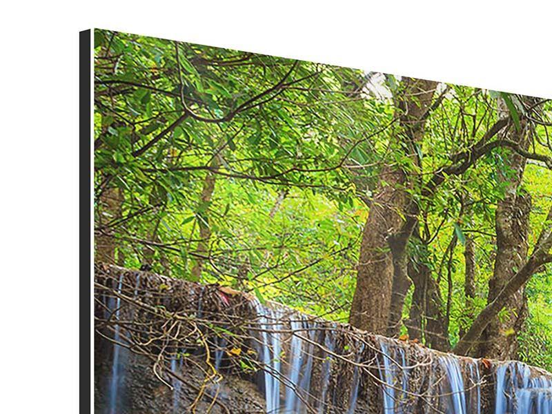 Aluminiumbild 4-teilig modern Wasserfall Si Nakharin