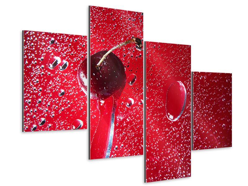 Aluminiumbild 4-teilig modern Die Kirsche