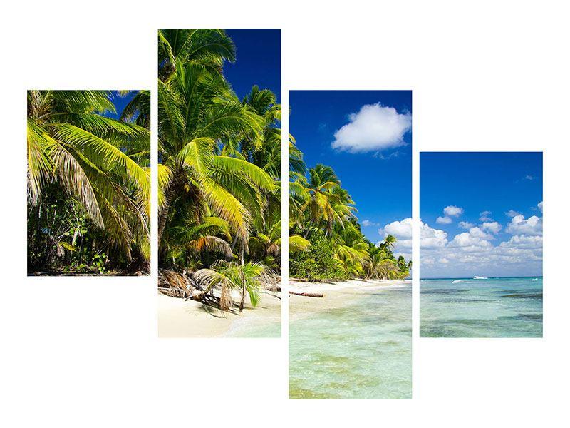 Aluminiumbild 4-teilig modern Die einsame Insel