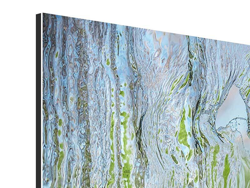 Aluminiumbild 4-teilig modern Hinter dem Wasserfall