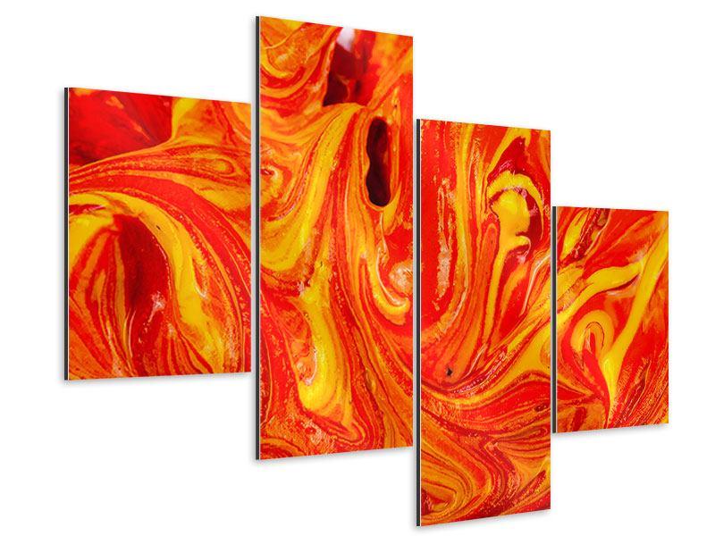 Aluminiumbild 4-teilig modern Wandgemälde