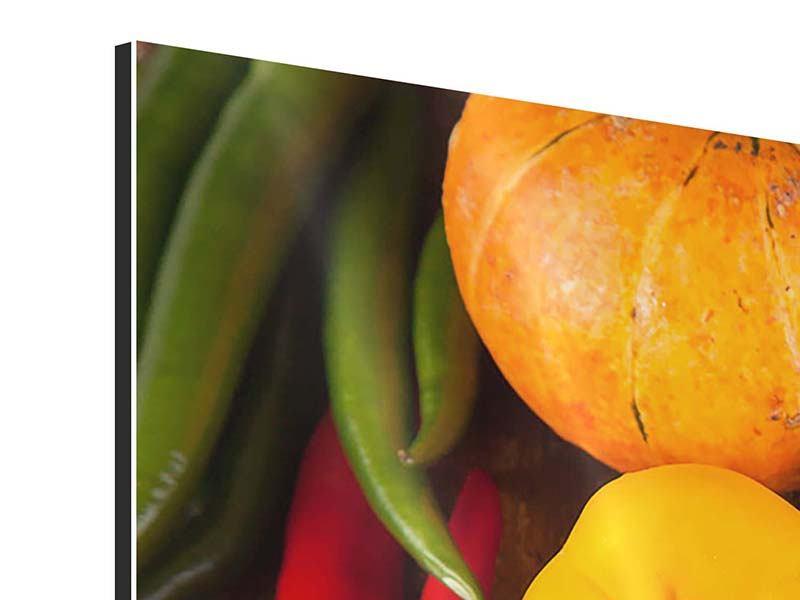 Aluminiumbild 4-teilig modern Gemüsefrische