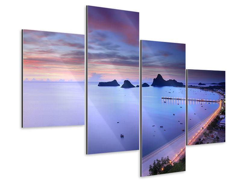Aluminiumbild 4-teilig modern Ano Manao Bucht