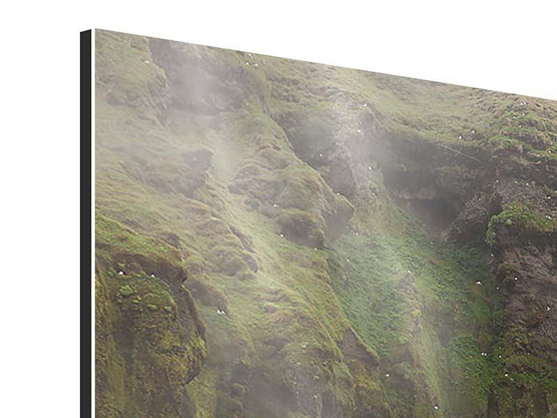 Aluminiumbild 4-teilig modern Skogafoss