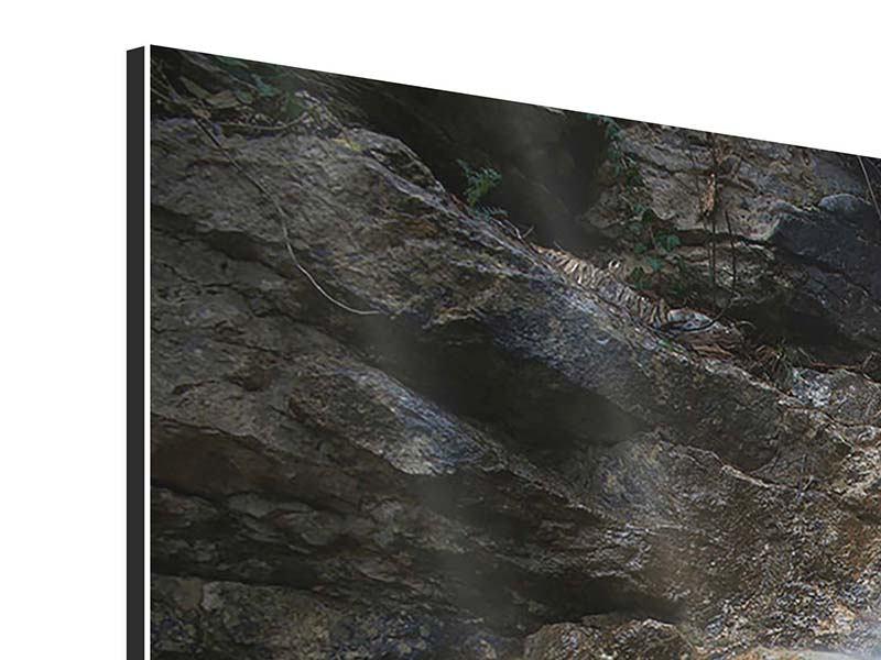 Aluminiumbild 4-teilig modern Imposanter Wasserfall