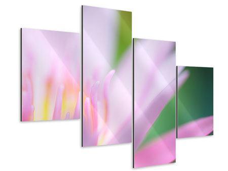 Aluminiumbild 4-teilig modern XXL-Lilie