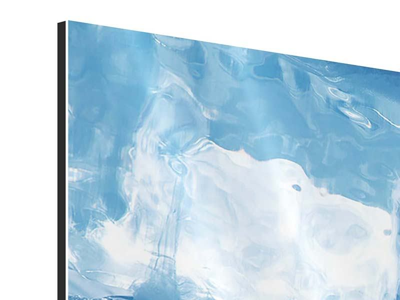 Aluminiumbild 4-teilig modern Baikalsee-Eis