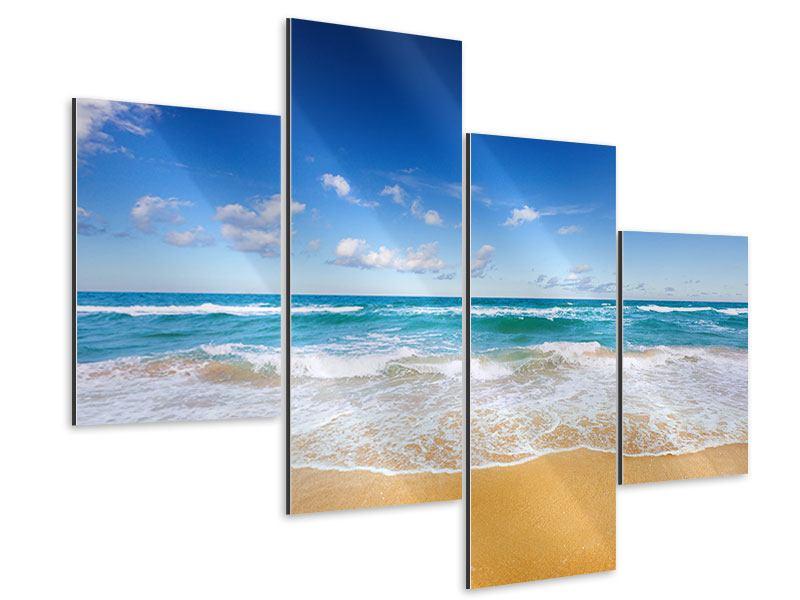 Aluminiumbild 4-teilig modern Die Gezeiten und das Meer