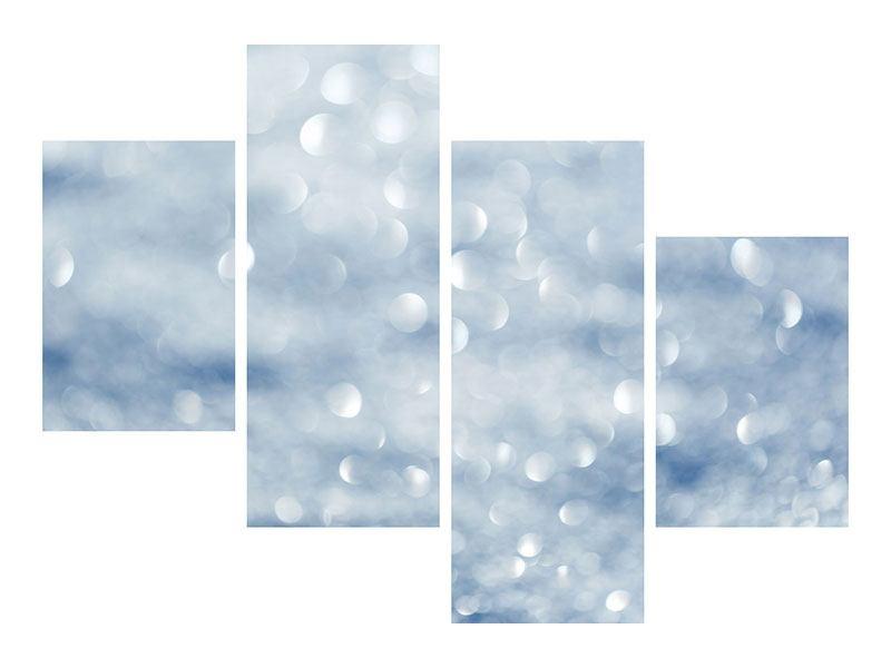 Aluminiumbild 4-teilig modern Kristallglanz