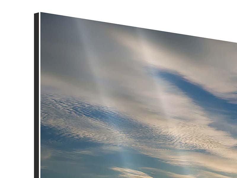 Aluminiumbild 4-teilig modern Meerwasser