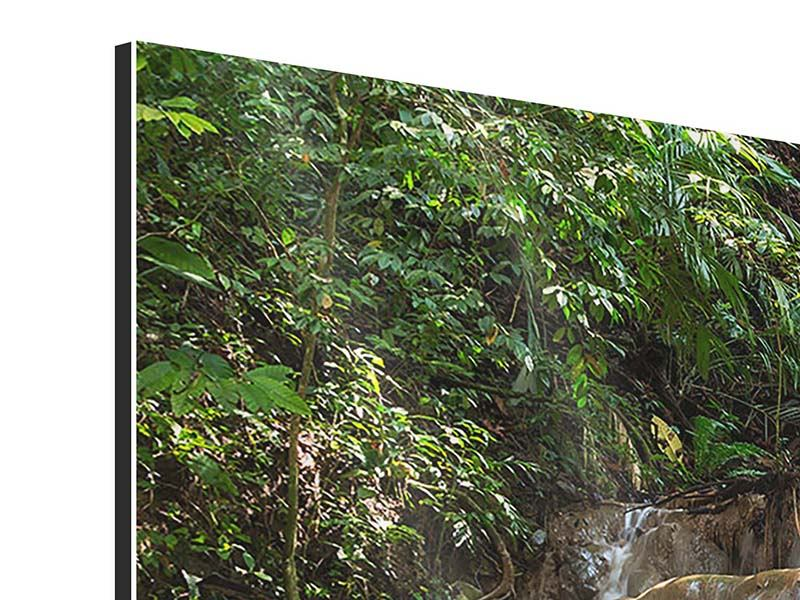 Aluminiumbild 4-teilig modern Mexikanischer Wasserfall