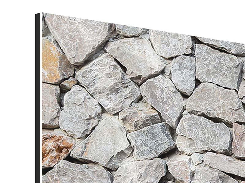Aluminiumbild 4-teilig modern Grunge-Stil Mauer