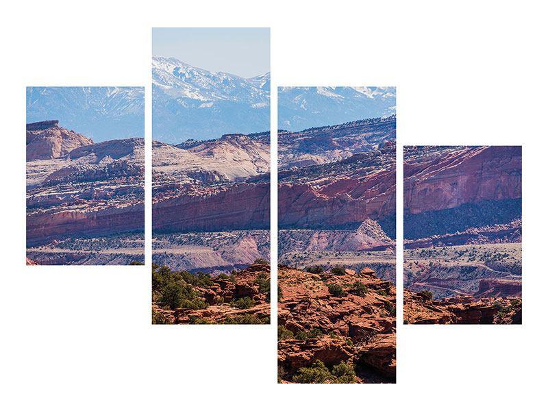 Aluminiumbild 4-teilig modern Bruce-Canyon-Nationalpark